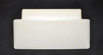 White Flat Plastic Dough Scrapers Case 10