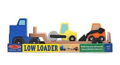 Melissa and Doug 14550 Low Loader Wooden Toy Set Childrens Kids Play Age 3+ New