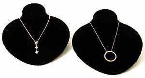2 New Black Velvet Jewelry Display Bust Pendants & Necklaces Neck Forms