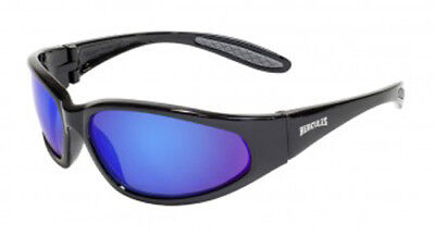 Global Vision Hercules  1 G Tech Blue Safety  Riding Glasses   Ansi Z87 1 2010