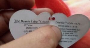 Doodle the Rooster Ty Beanie Baby stuffed animal
