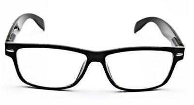 Black Interview Smart Looks nerd Fashion Rectangular Clear Lens Eye Glasses fake (Fake Eyeglasses)