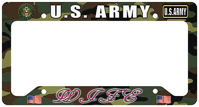 US Army Wife License Plate Frame