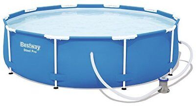 """Large Family Rigid Frame Round 10ft x 30"""" Swimming Pool & Filter Pump 56679"""