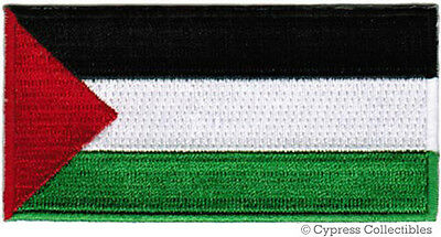 Palestine Flag Embroidered Iron On Patch Palestinian West Bank Gaza Fatah Plo