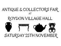 Roydon Antique and Collectors Fair - 25th Nov