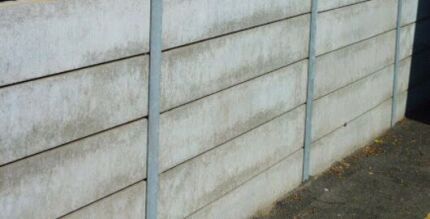 Concrete retaining sleepers Wynnum Brisbane South East Preview