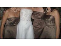 Brown Bridesmaid Strapless dress. Size US 16 (UK18-20)