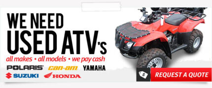 Wanted: QUADS,ATV CASH PAID ANY COND 4x4 or 2x4