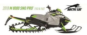 2018 Early Release M 8000 Sno Pro (153/162) Available In Stock