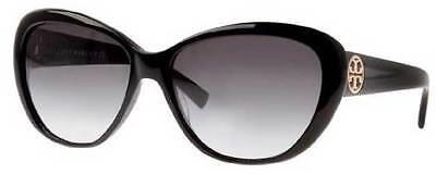 NWT TORY BURCH Sunglasses TY 7005 501/11 Black / Gray Gradient 56 mm 50111 NIB