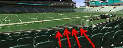 2 PHILADELPHIA EAGLES SEASON TICKETS ! 20 YARD LINE ! ROW 1 ! PLAYOFFS AT FACE!