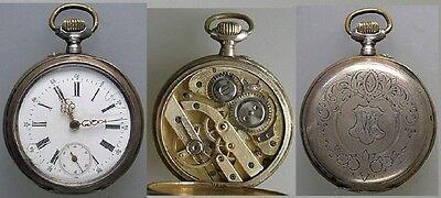 Offene Taschenuhr G.-Henri Liengme Silber um 1900 (32170)