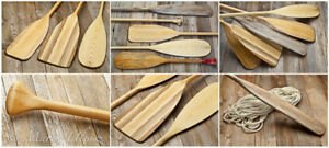 ISO 2 Used Wooden Canoe Paddles - Free or up to $10
