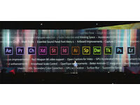 ADOBE PHOTOSHOP, INDESIGN, ILLUSTRATOR, AFTER EFFECTS CC 2017,etc... PC/MAC