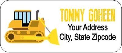 Construction Truck Return Address Labels Custom Personalized