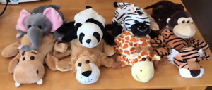 SAFARI/JUNGLE PLUSH HAND PUPPETS IN EXCELLENT CONTION!!