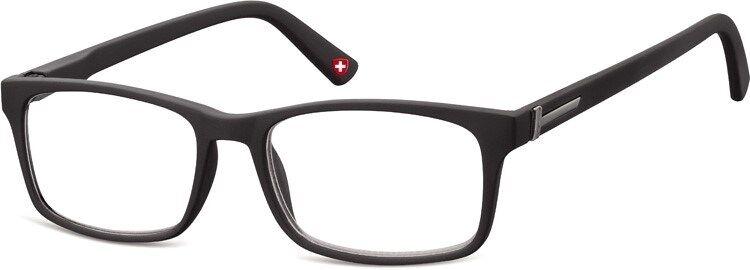 Lesebrille Montana matt schwarz Gläser klar oder getönt Lesehilfe TOP-Preis