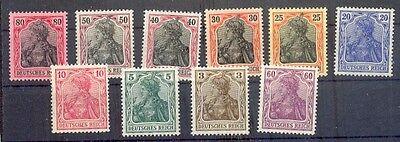 DR-Germania 84/93II SATZ**POSTFRISCH Mi 40 Euro(69536