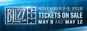 Blizzcon 2018 Ticket (Event + Goody bag + Virtual Ticket)