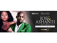 RnB Legends Ashanti & Joe - FRONT Standing Tickets - Eventim Hammersmith Apollo London 26th February