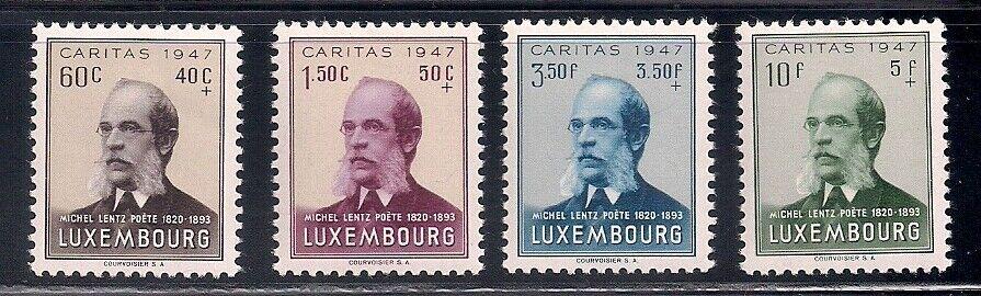 Luxembourg 1947 Sc B142-46 MNH OG 42782  - $3.25