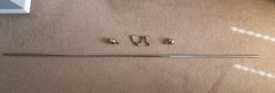 Curtain rail extendable in brushed nickel