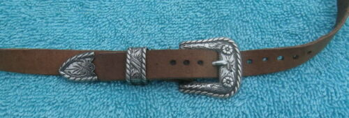 Keyston Bros. S. F. Calif. Small Sterling Silver Buckle Set on Cowboy Hat Band