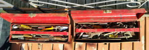 2 Old Tool Boxes with assorted Tools