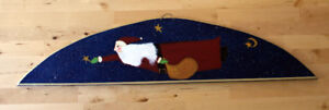Beautiful hand painted Santa decoration about 3 feet long
