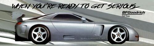 "1995 Callaway C7 Silver Corvette Banner BF Goodrich REPRODUCTION 12""x40"""