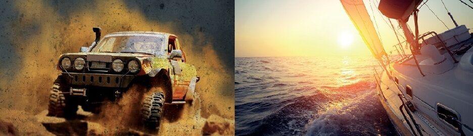Auto und Boot