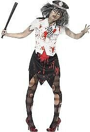 ZOMBIE WALKING DEAD BRITISH POLICE WOMAN SIZE 12/14 GREAT FOR HALLOWEEN PARTY