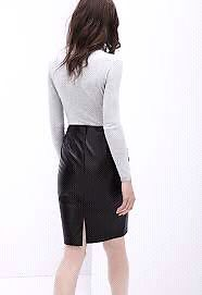 WANTED DANIER LEATHER SKIRT ALICE