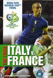 Italy vs France World Cup 2006 (DVD) WC Final Game Angle Park Port Adelaide Area Preview