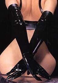 Gants d'opéra sexy (noir)