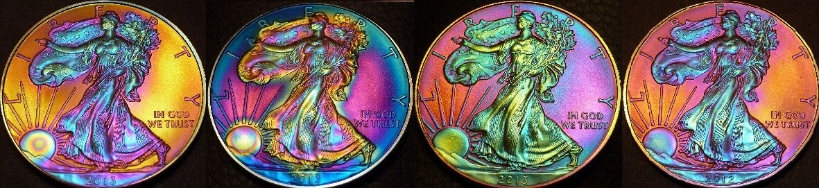 ARTISTICALLY TONED SILVER COINS