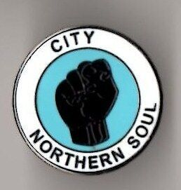 MAN CITY/COVENTRY VINTAGE NORTHERN SOUL RARE ENAMEL PIN BADGE - MINT CONDITION