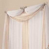 Two sets of curtain drape hardware for formal look