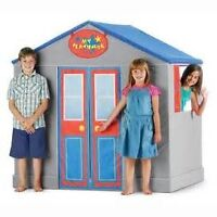 CALEGO 3D FOLDABLE PLAYHOUSE WITH STOVE FRIDGE TABLE AND STOOLS