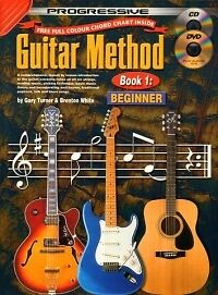 PROGRESSIVE GUITAR METHOD 1 Beginner + CD & DVD*