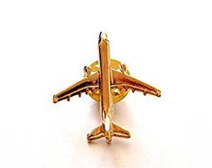 Gold Plated Airbus A321 Airplane Lapel Pin - Tie Pin BADGE $9.99
