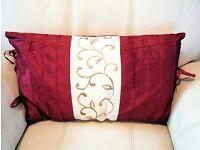 Oblong decorative cushion