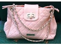 LOVELY PALE PINK QUILTED HANDBAG BY JANE NORMAN