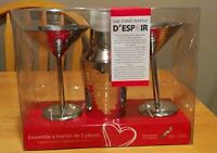 NEW - Homesense 3 Piece Martini Set