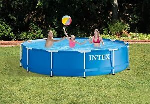 Free Intex 12FT X 30IN METAL FRAME POOL SET & 14' Trampoline