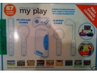 my play games console with 87 classic games (retro collectors)(pre-owned)