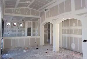 drywall, taping, t-bar ceilings, framing with metal studs
