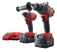 milwaukee fuel impact and hammer drill