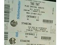 Take That Tickets - 2 x standing Dublin 15/05/17